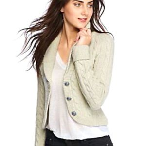 Free People Ivory Heat Viceroy Fitted Cardigan